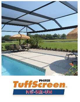 Phifer Tuff Screen no-see-um screen. Where strenght, visibility and outstanding insect protection meet