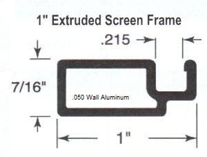 1 X 7 16 050 Super Duty Extruded Screen Frame