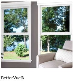 BetterVue® fiberglass insect screening with Water Shed Technology™ preserves optical clarity by shedding water and resisting dirt and grime for a sharp, more brilliant outward view. It is suitable for all window and patio screen door applications.