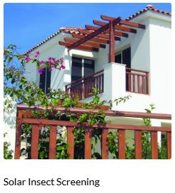 Phifer Solar Insect Screening offers the ultimate in insect protection while at the same time stopping up to 65% of the sun's heat and glare. Phifer 20x30 is a No-See-Um stopping screen. This fabric also improves daytime privacy while offering outward visibility. Phifer Solar Insect Screen works whether windows are open or closed. A true 3 in 1 screen. Insect Control, Sun Shading and Privacy Screen.