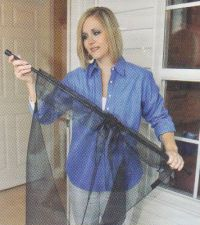 Instant Screen Door Install Image - Magnetic Self Closing ferature for Hands-Free Passage