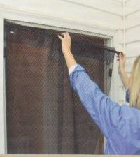Instant Screen Door Install Image - Instant Insect Protection to fit a variety of doorways