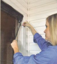 Instant Screen Door Installation Image - Works as a Pet Door too