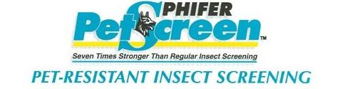 Phifer Pet-Resistant Insect Screening - Ask for Phifer By Name. Pet Screen is Seven Times Stronger than Regular Insect Screening