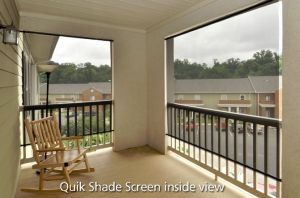 Quik Shade  Solar Screen Inside View
