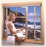 Retractable Window Screens - Roll-Away Series 4000