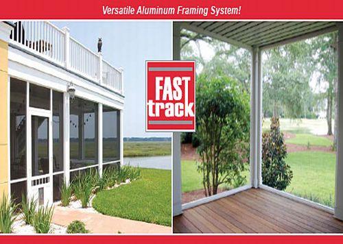 Fast Track Porch Screen Sytem Versatile Aluminum Framing