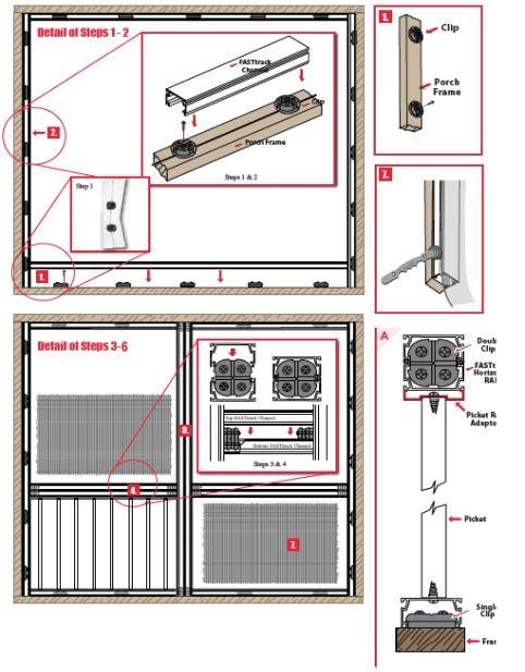 Fast Track Rail Install Diagram