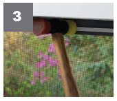 Made from flexible, high-quality cellular PVC, the Screen Block system can be used for complex and curved areas of your porch. The low profile system fits into framed openings that is easy to cut and trim with no mitering needed.