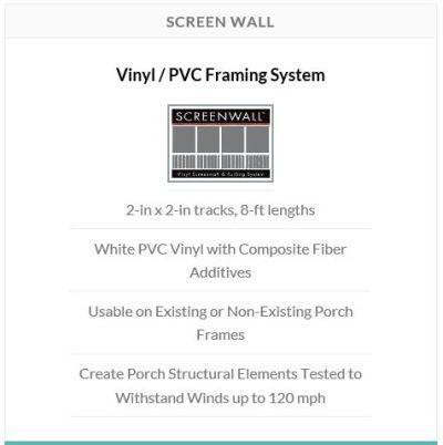 Screen Tight - Screen Wall - A Premium Vinyl Porch Framing ...