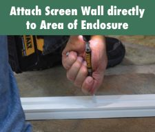 With Screen Wall, you can create a nice, clean look with or without an existing porch structure.