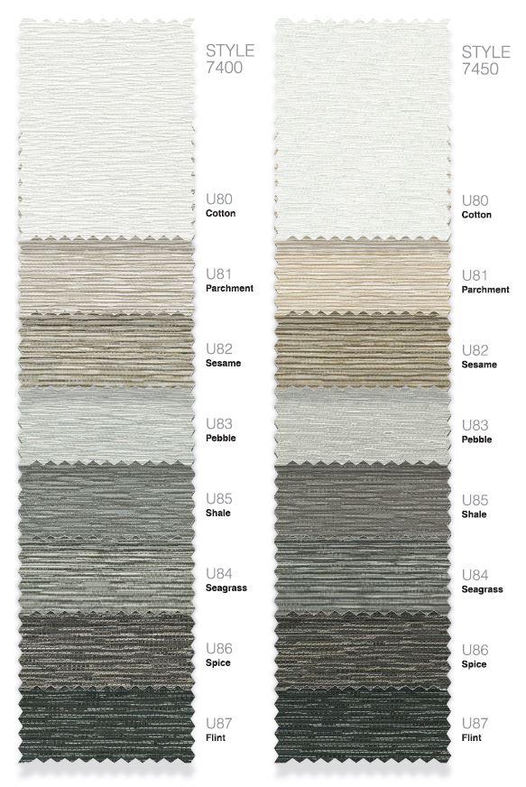 Phifer Sheerweave 7400 and 7450 Colors