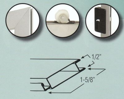 Sliding Screen Door Kit Roll Formed Aluminum