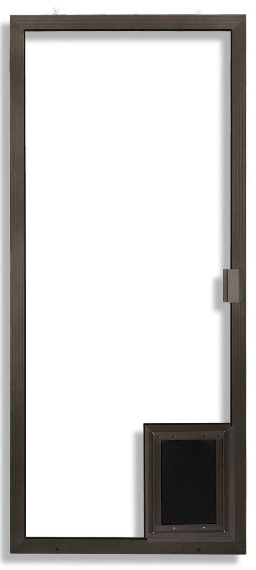Sliding Screen Door with Pet Door added.